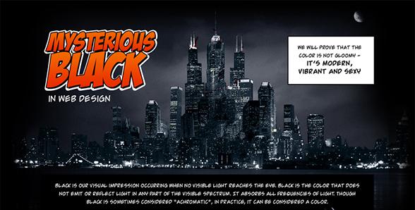 Il nero nel web design + Infografica
