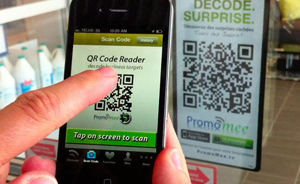 Qr code call to action - social media marketing