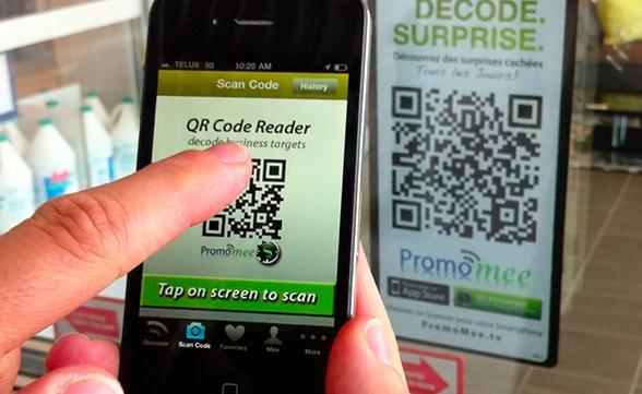 Qr code call to action - social media marketing