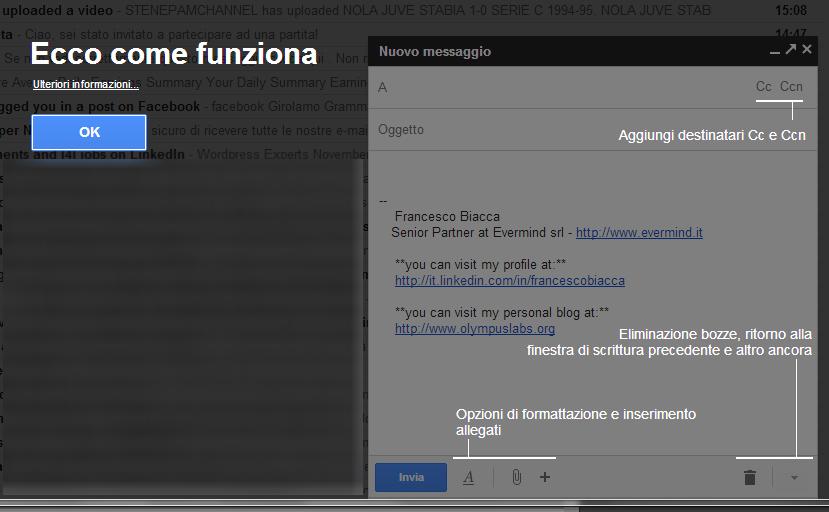Gmail: come funziona la nuova modalità di scrittura messaggi