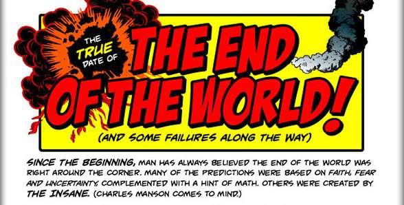19 previsioni della fine del mondo fallite – Infografica