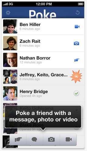 Facebook Poke Friend List