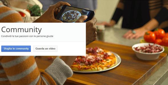 Google+ lancia le community