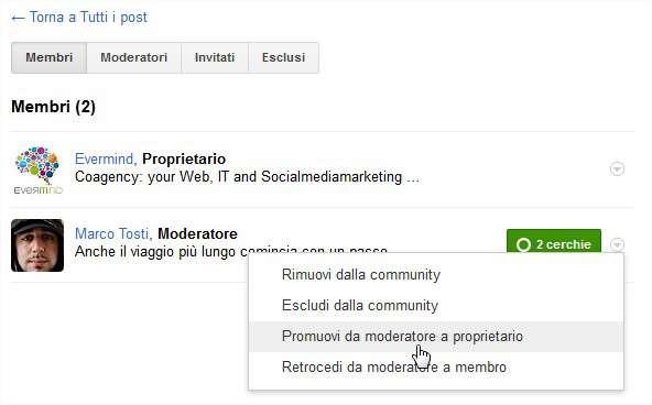 Opzioni-Membri-Community-Google+