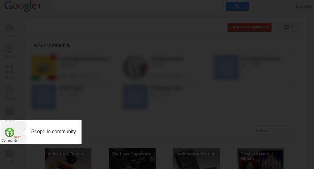 Scopri Community Google+
