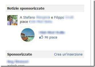notizie sponsorizzate Facebook