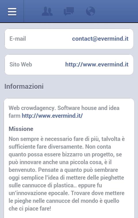 Gestore Pagine Facebook Android - informazioni pagina