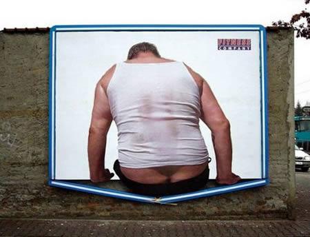 Gym Advertising broken billboard