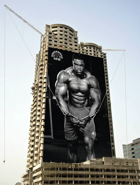 Gym Advertising building workout