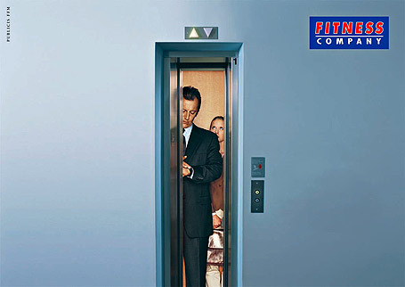 Gym Advertising fitness company slim elevator