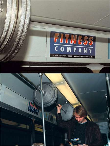 Gym Advertising fitness company weight lifting