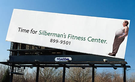 Gym Advertising time to lose weight