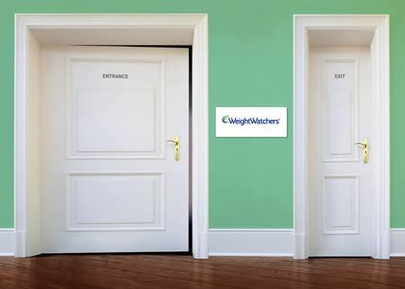 Gym Advertising weight watchers door