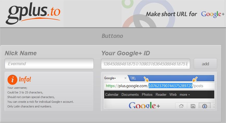 Google+-custom-URL