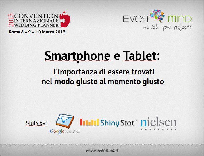 Convention Internazionale Wedding Planner - smartphone e tablet