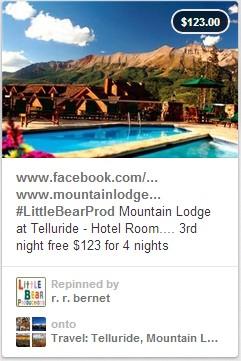 Pinterest per hotel - inserire offerta speciale