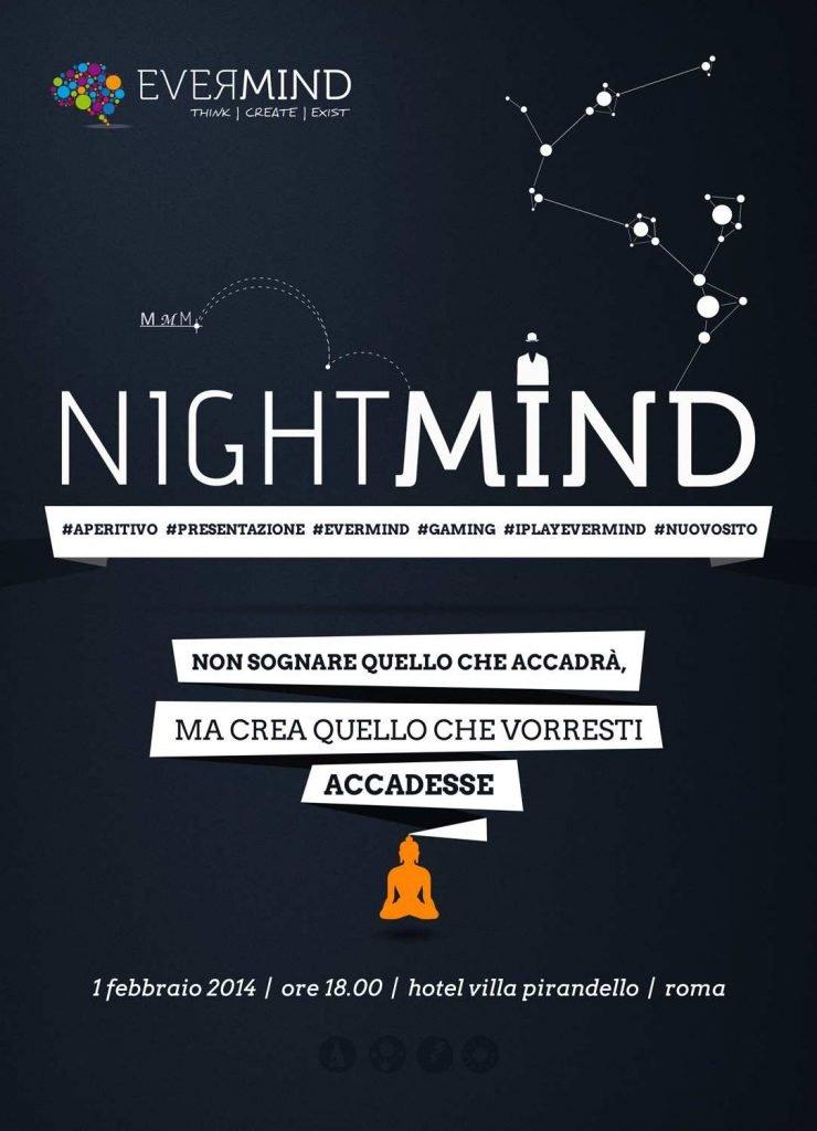 nightmind aperitivo evermind lancio sito