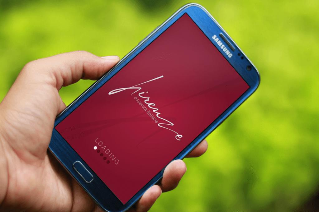 Simulazione app con logo di firenze