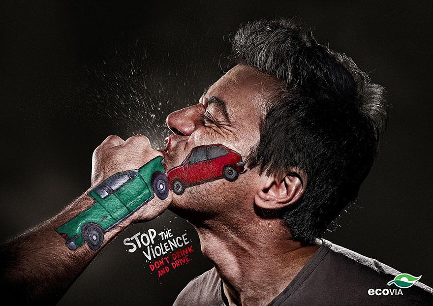 Ferma la violenza. Non bere se poi devi guidare