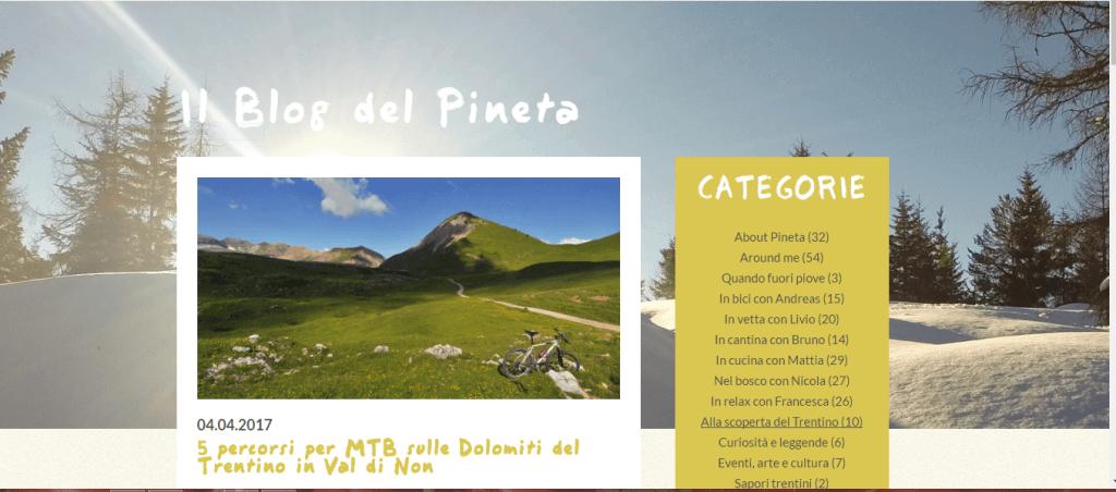 Copywroter-Pineta Naturalmente hotels -blog