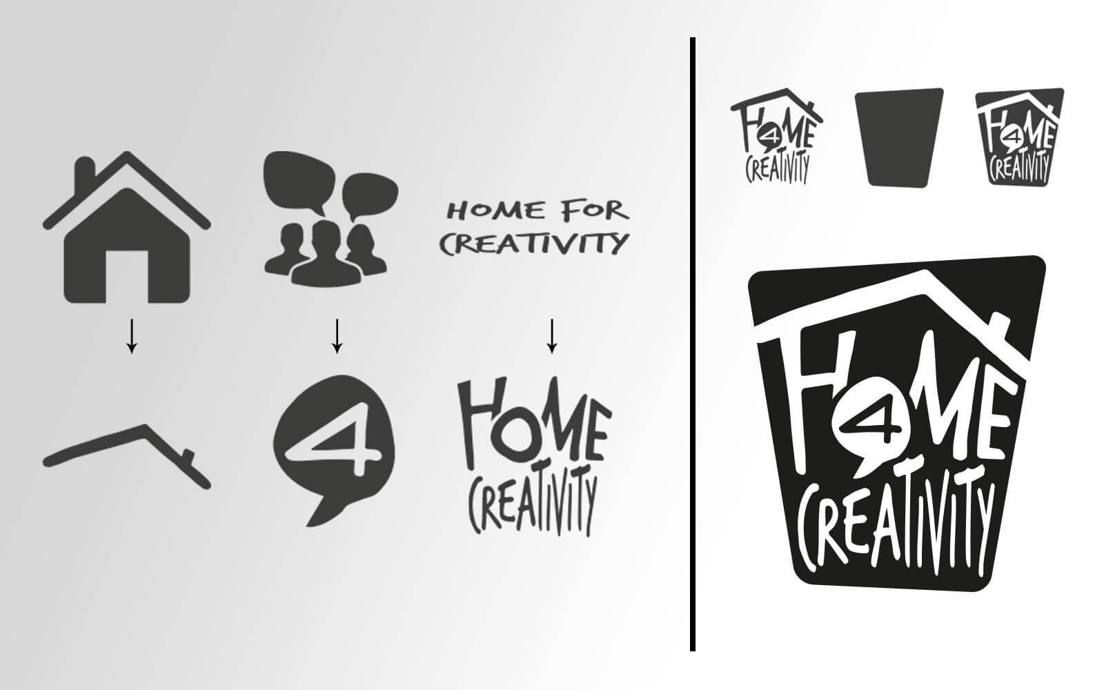 Home 4 Creativity – Brand Identity