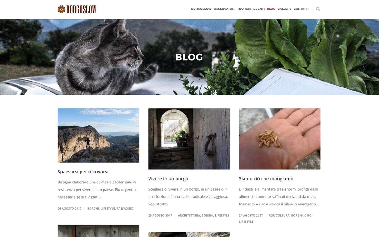 Borgoslow – Sito web