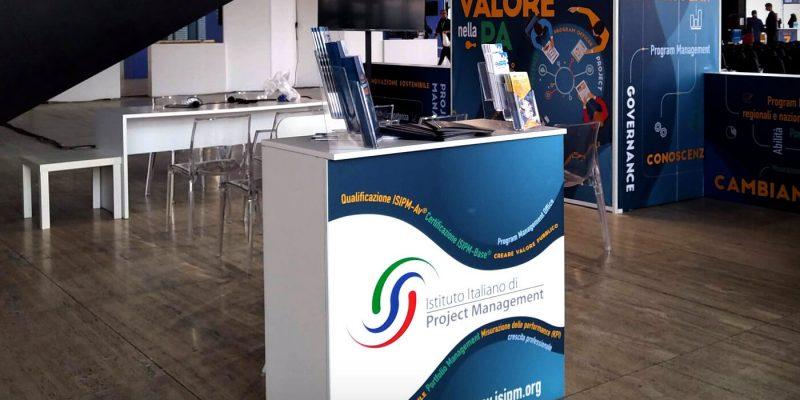 Comunicazione visiva per lo stand ISIPM al Forum PA