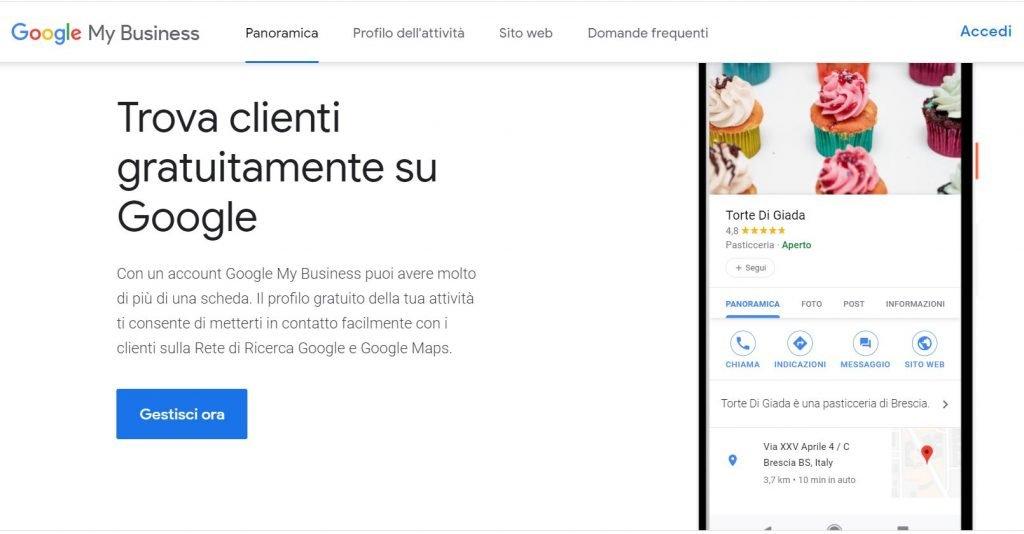 Google my business per il local digital marketing